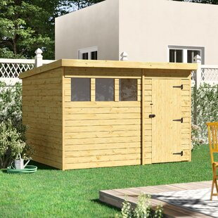 Kempf 10 Ft. W X 8 Ft. D Shiplap Pent Wooden Shed By Sol 72 Outdoor