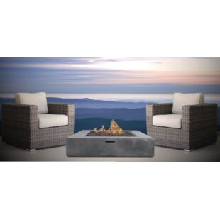 Defino Fire Pit 3 Piece Conversation Set by Orren Ellis 2019 Sale
