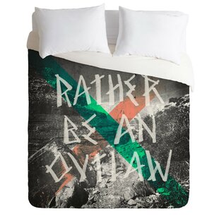 East Urban Home Rather Be An Outlaw Duvet Cover Set