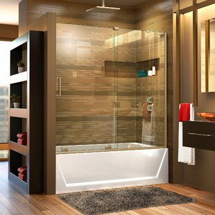 Great choice Mirage-X 58 x 60 Single Sliding Frameless Tub Door with ClearMax™ Technology By DreamLine