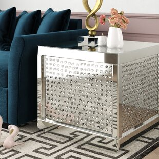 Larock Crystal End Table by Rosdorf Park