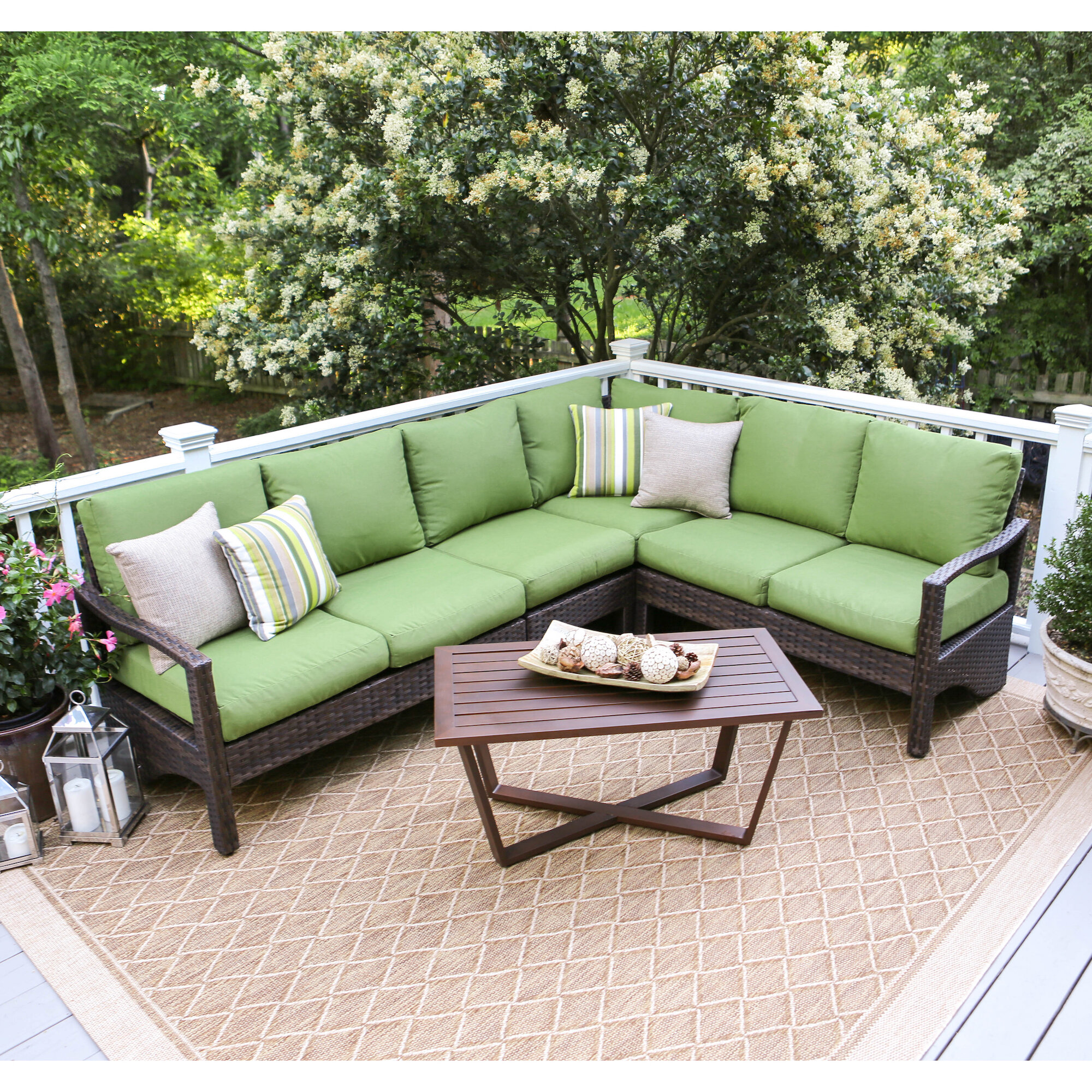Sunbrella Fabric Included Outdoor Sofa Sets   Joss & Main