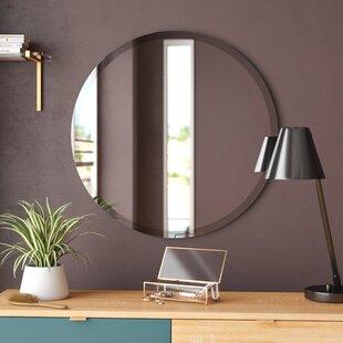 Valdosta Modern and Contemporary Beveled Frameless Bathroom / Vanity Mirror