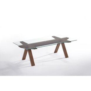 Twyla Rectangular Glass Top Coffee Table
