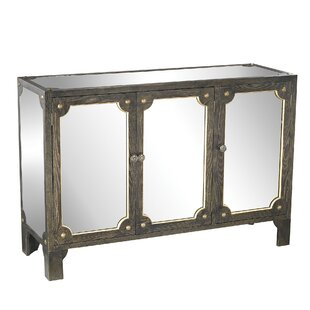 Shirley Mirrored 3 Door Accent cabinet by House of Hampton