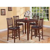 Tybalt 5 Piece Counter Height Solid Wood Dining Set by Andover Mills™