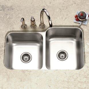 60/40 Sink | Wayfair on 24 double bowl undermount sink, low divide sink, double bowl apron front sink, offset kitchen sink, blanco 40 60 sink, best 16-gauge kitchen sink, double kitchen sink, extra large kitchen sink, small round prep sink, 60 40 integrated kitchen sink, 60 40 stainless sink, elkay undermount sink, stainless steel deep sink, large stainless sink, laminate undermount sink, 24 kitchen sink, upc sink, mosaic tile sink, triple bowl kitchen sink,