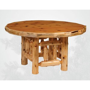 Traditional Cedar Log Round Dining Table ..