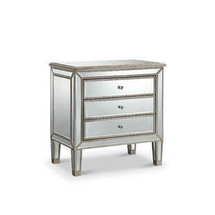 Beaty 3 Drawer Nightstand by House of Hampton Best