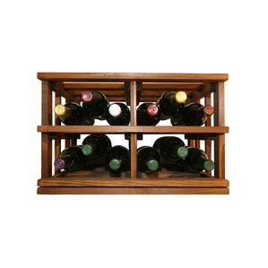 Allaire Rustic 12 Bottle Tabletop Wine Ra..