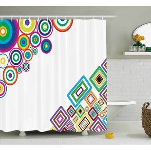 Fredia Colored Rectangle Form Single Shower Curtain