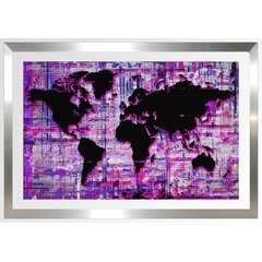 French Country Purple Map Wall Art You Ll Love In 2021 Wayfair