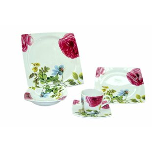 Floral 20 Piece Dinnerware Set, Service for 4