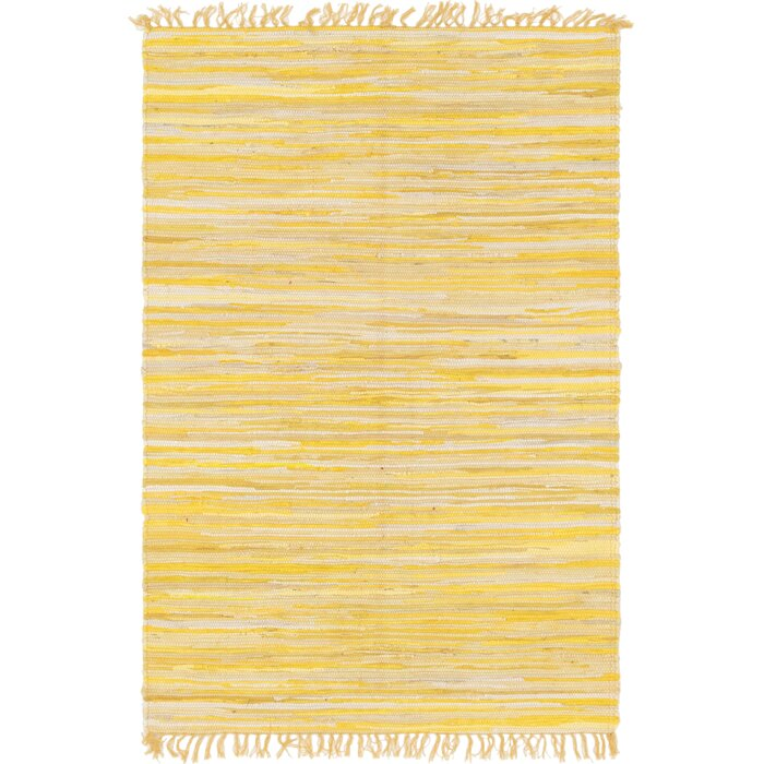 Marchese Hand Woven Cotton Yellow Area Rug