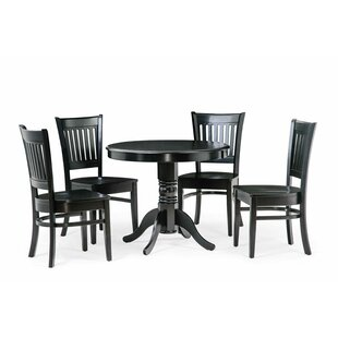 Reichert 5 Piece Solid Wood Dining Set