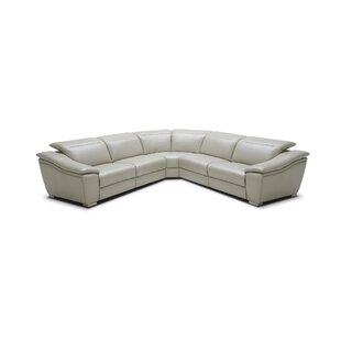 Orren Ellis Marook Leather Reclining Sectional