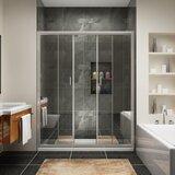 60 x 72 Double Sliding Semi-Frameless Shower Door byWatqen