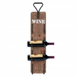 Dunigan 4 Bottle Wall Mounted Wine Rack b..