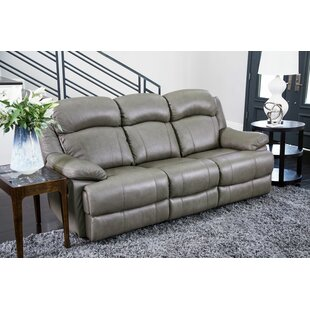Reviews Nigel Leather Reclining Sofa by Darby Home Co Reviews (2019) & Buyer's Guide