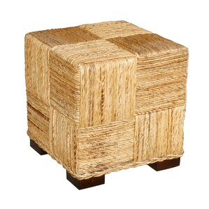Marina Abaca Cube Ottoman by Jeffan