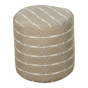 Dubose Tan Outdoor Pouf by Brayden Studio