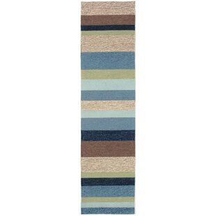 Derby Stripe Denim Indoor/Outdoor Rug