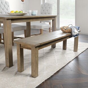 Elland Driftwood Wood Bench by Highland Dunes