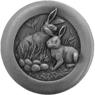 Rabbits All Creatures Novelty Knob