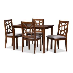 Halewood 5 Piece Dining Set Ebern Designs
