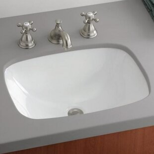 Inexpensive Ibiza Vitreous China Rectangular Undermount Bathroom Sink By Cheviot Products