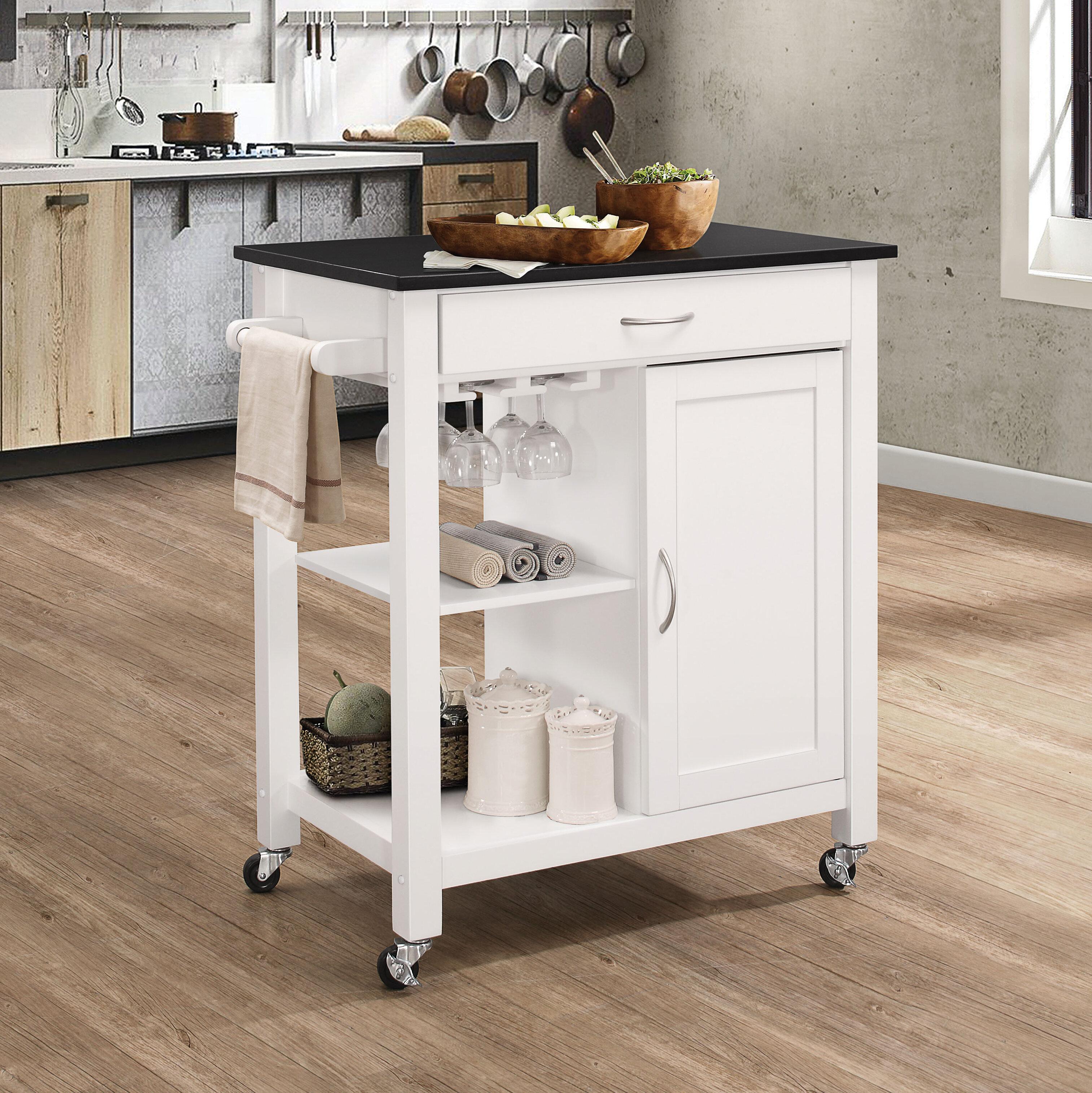 Red Barrel Studio Brookton Kitchen Cart