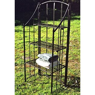 Folding Planters Iron Baker's Rack by Pangaea Home and Garden
