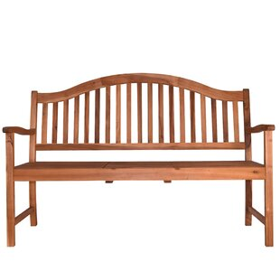 Beachcrest Home Aranmore Outdoor Wood Garden Bench