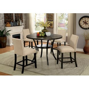Mirabella 5 Piece Dining Set by Alcott Hill