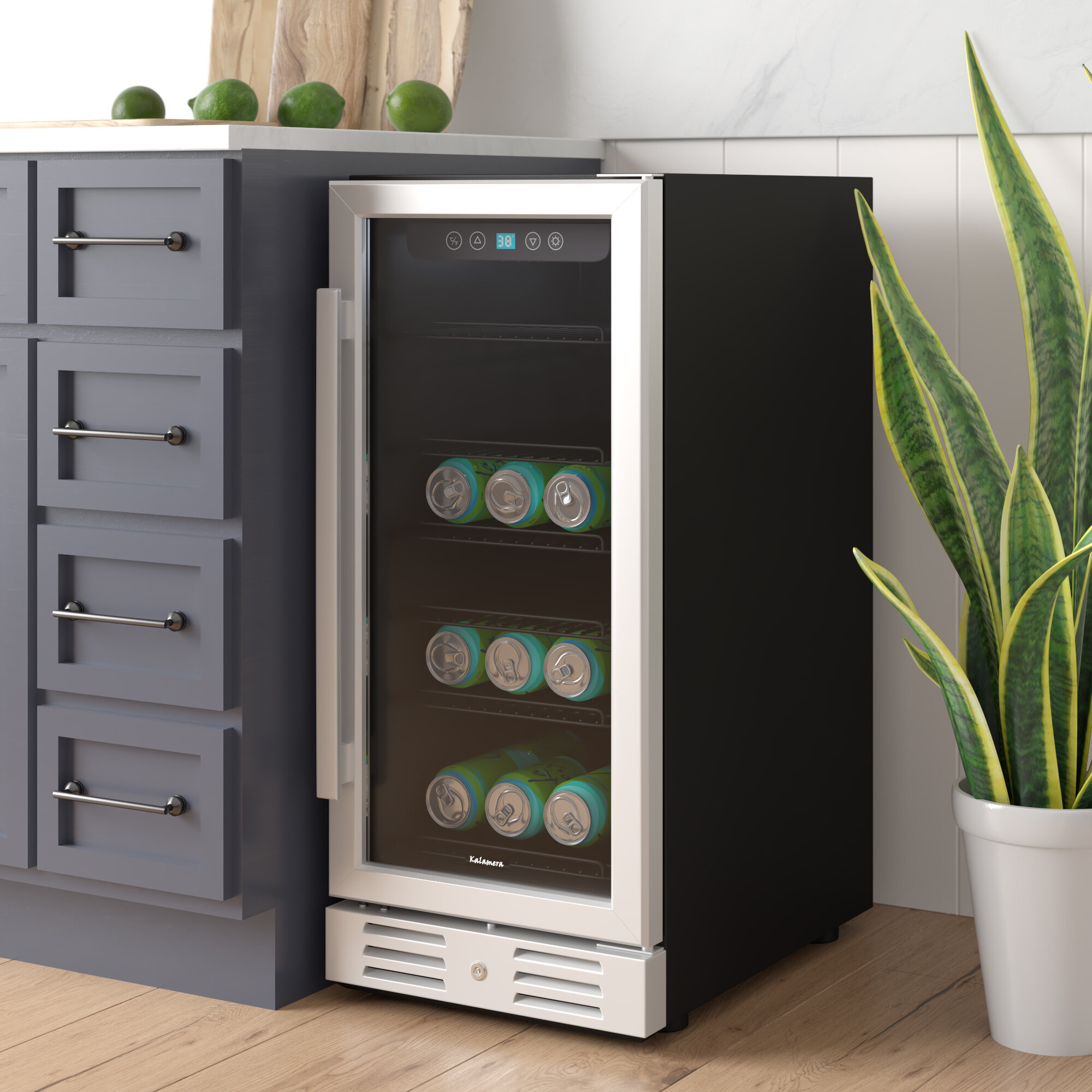 Kalamera 96 Can 15 Convertible Beverage Refrigerator Reviews Wayfair