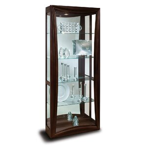 Halo Gemini Lighted Curio Cabinet by Philip Reinisch Co.