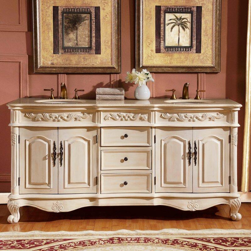 """Bathroom Vanity Hutch one allium way owings 72"""" double sink cabinet bathroom vanity set"""