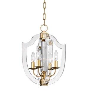 Elishia 4-Light Geometric Chandelier by Willa Arlo Interiors