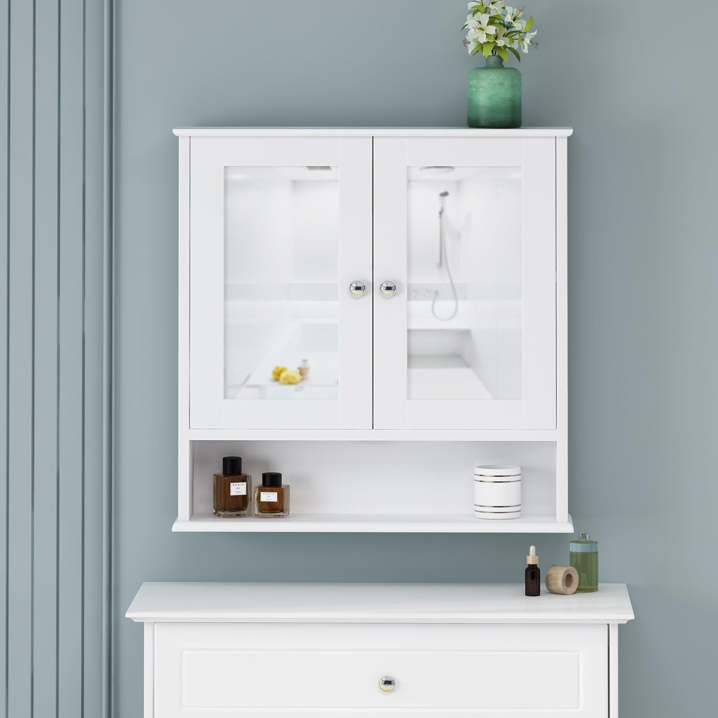 Winston Porter Galen Surface Mount Framed 2 Door Medicine Cabinet With Shelves Reviews Wayfair