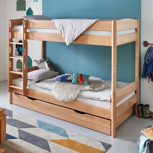 Cheap Price Nico European Single Bunk Bed With Drawers