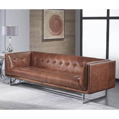 Compare Similar Items Cur Item Gulielma Leather Chesterfield Sofa