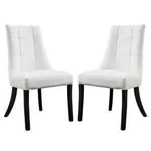 Chuck Upholstered Dining Chair (Set of 2) by Latitude Run