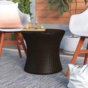 Jupiter Wicker Side Table by Mercury Row Wonderful