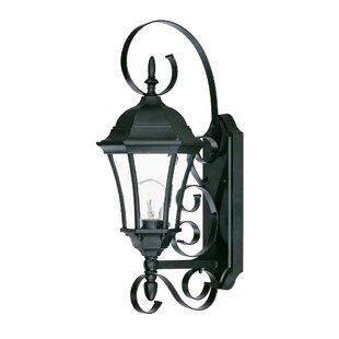 Prangins 1-Light Glass Shade Outdoor Wall Lantern
