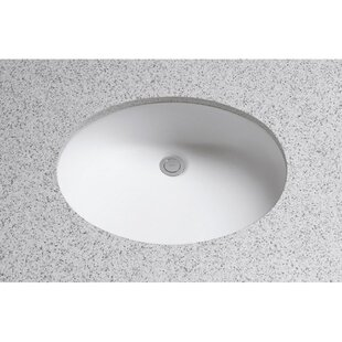 Coupon Dantesca Ceramic Oval Undermount Bathroom Sink with Overflow By Toto