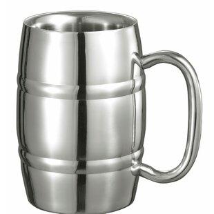 Big Cooper Beer Glass 13 oz. Stainless Steel