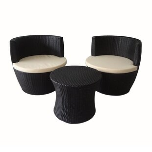 Curnutt 3 Piece Conversation Set with Cushions