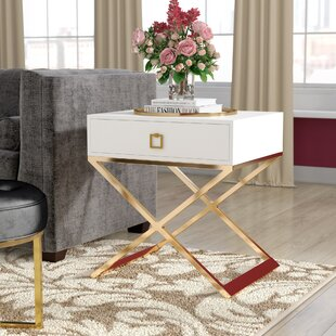 Everly Quinn Mallen End Table With Storage