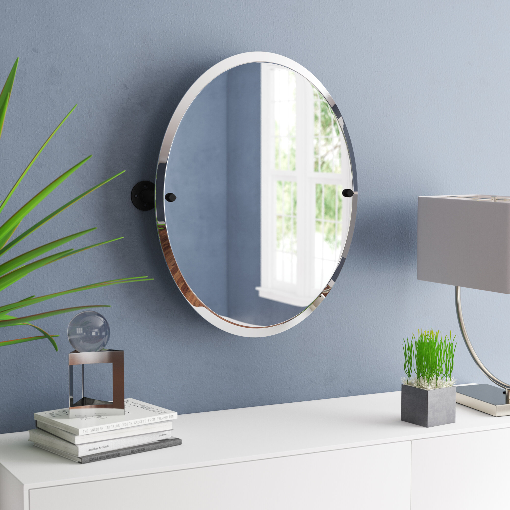 Williston Forge Bayer Frameless Oval Bathroom Vanity Mirror Wayfair