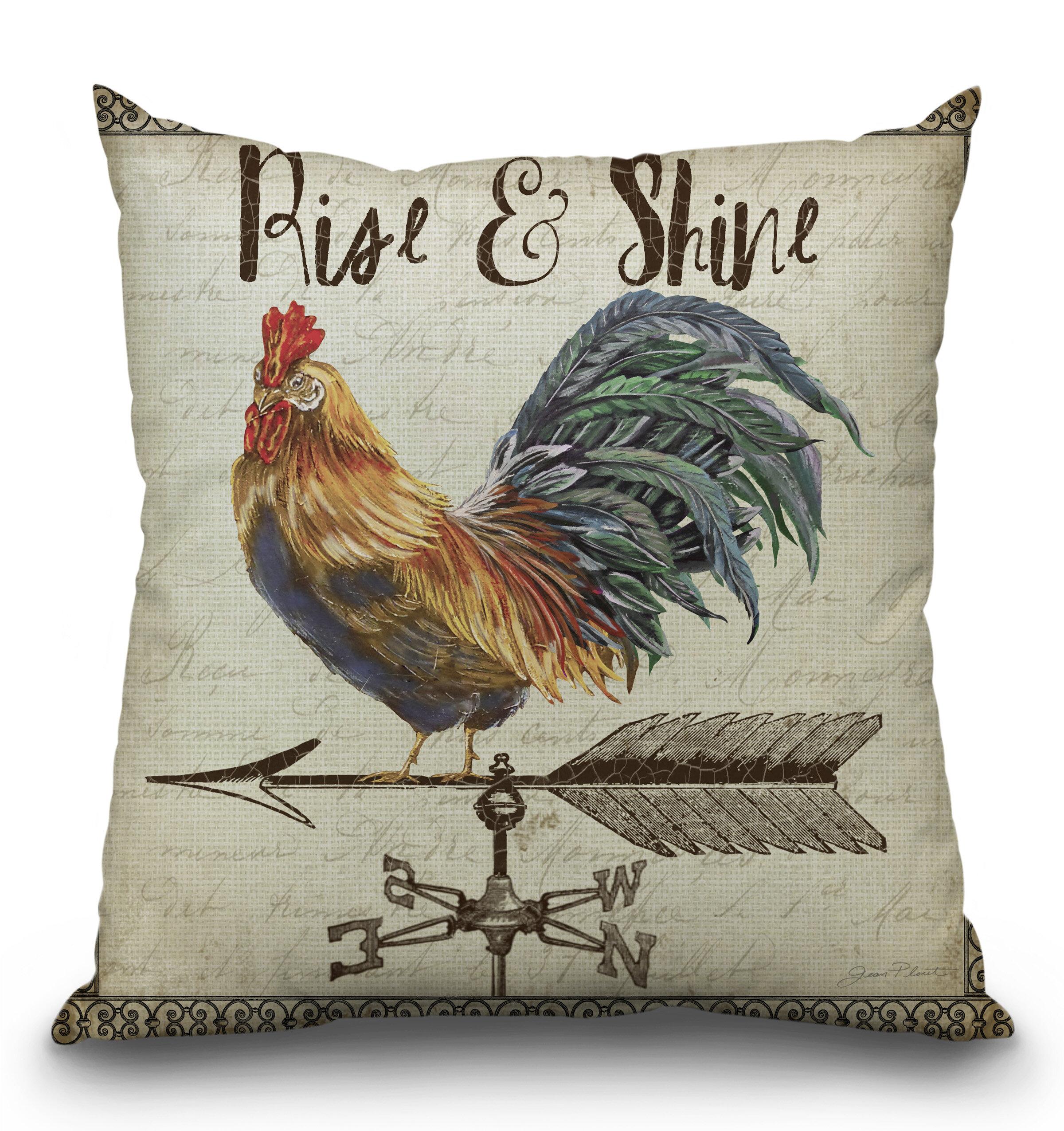 Lilipi Rooster Throw Pillow Wayfair